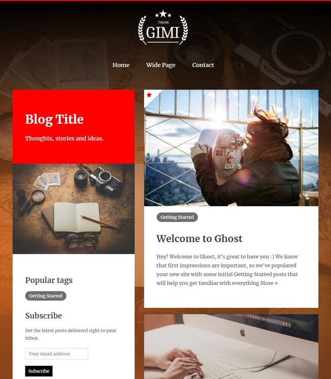 Clean and customizable blog theme for Ghost v1.X.X