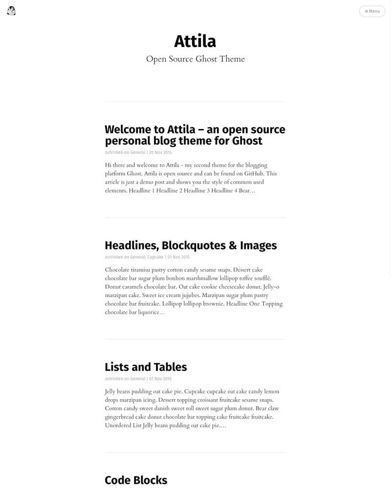 A content focused responsive theme for Ghost