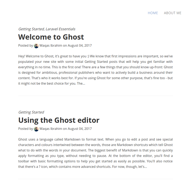A light and minimal blogging theme for Ghost