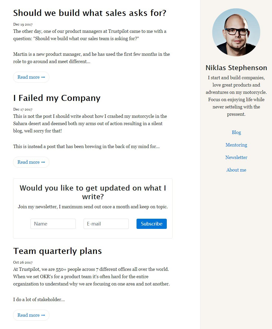 An awesome and simple designed blog for ghost