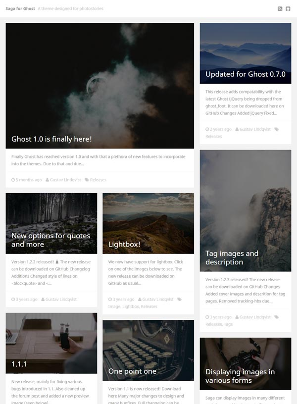 A Ghost theme designed for photostories