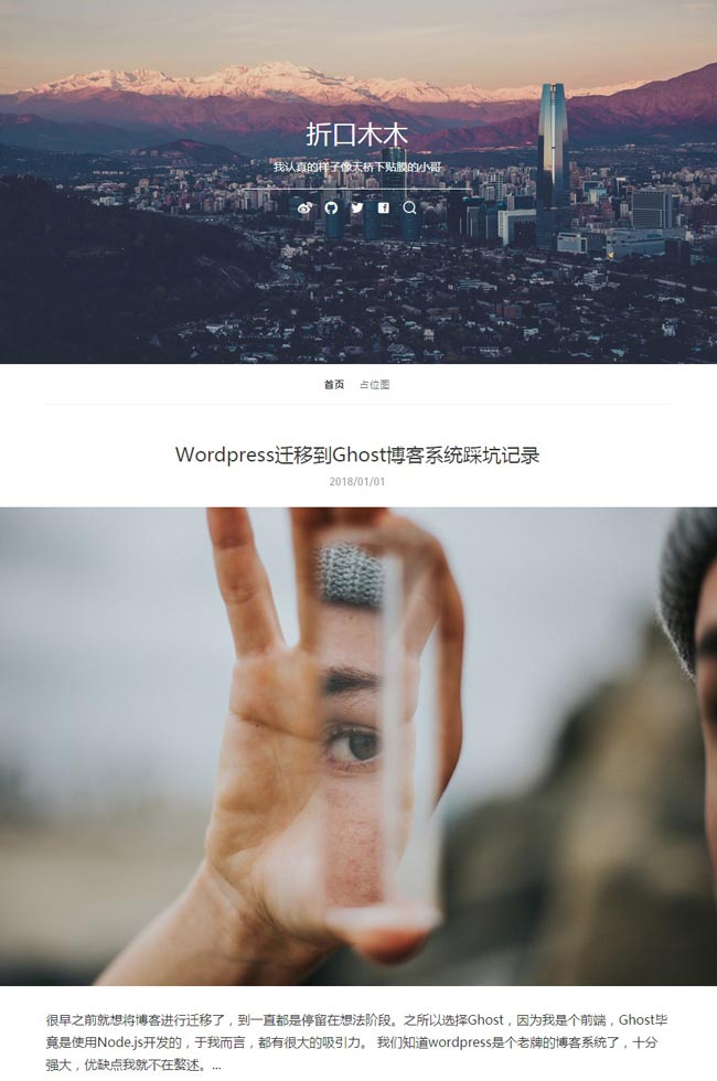 A clean, unique and minimal content focus Blogging Theme perfect for ghost