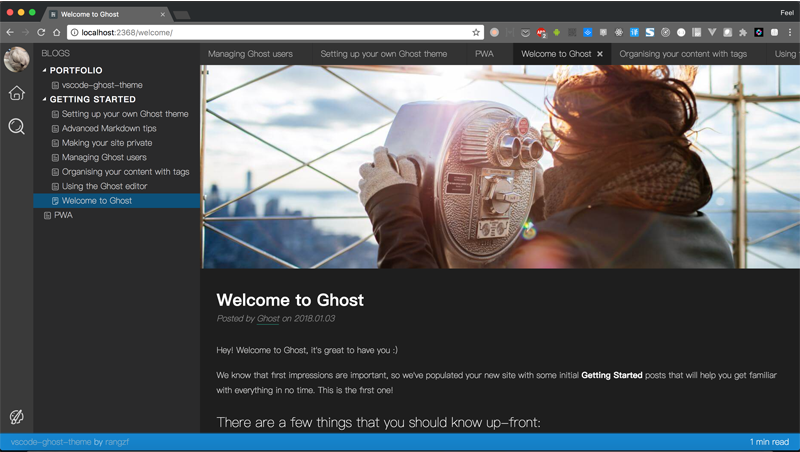 A vscode like Ghost theme