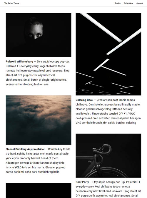 A masonry grid endless scrolling blog theme built for Ghost