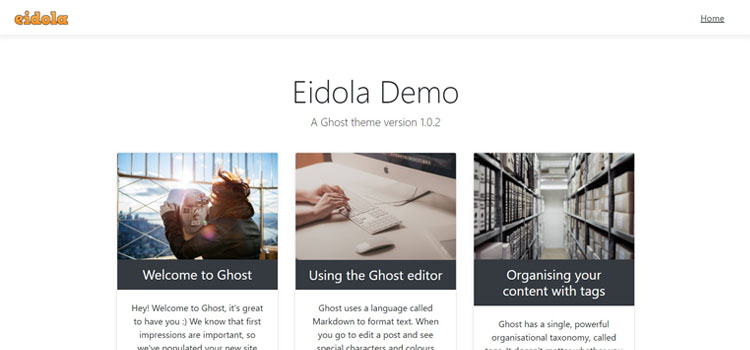 A bootstrap 4 theme for ghost