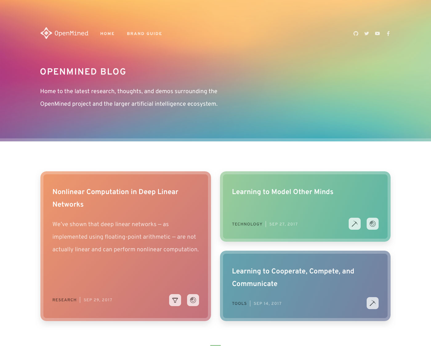 The theme for the OpenMined and Weekly Digs blogs