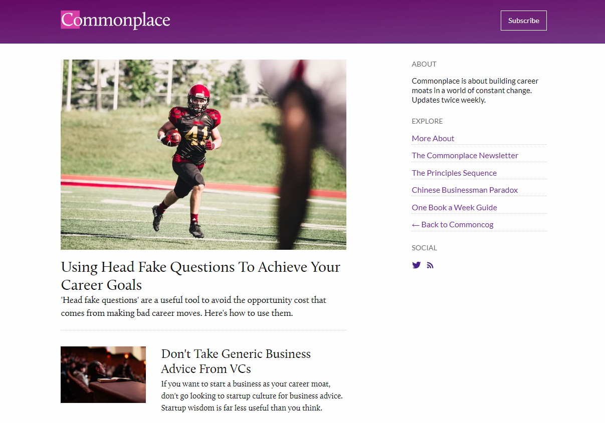 Commonplace Ghost blog theme