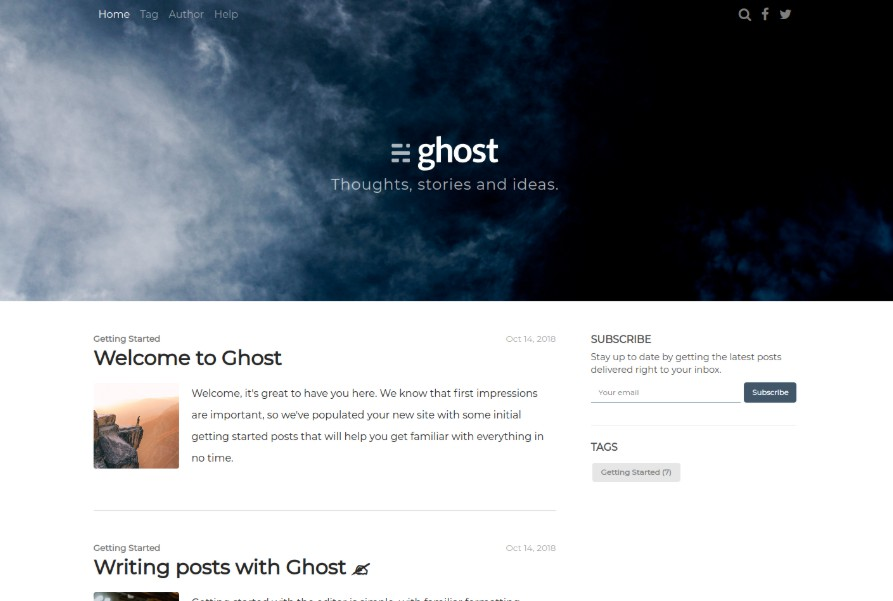 A Multi-column Ghost Theme
