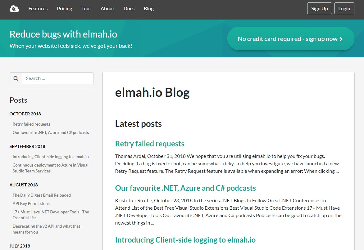 Ghost theme for the elmah.io blog