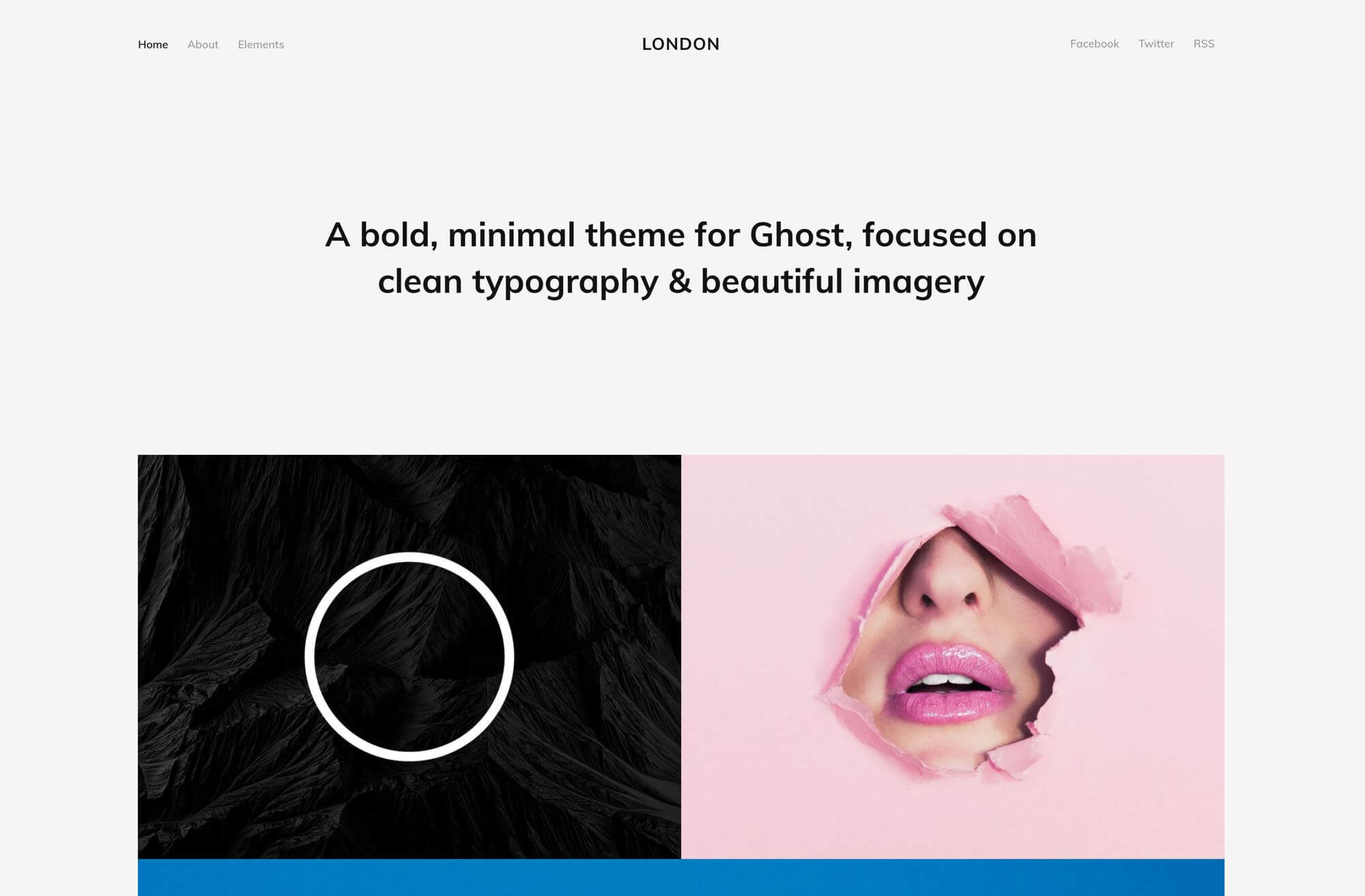 A custom and image-centric theme for Ghost