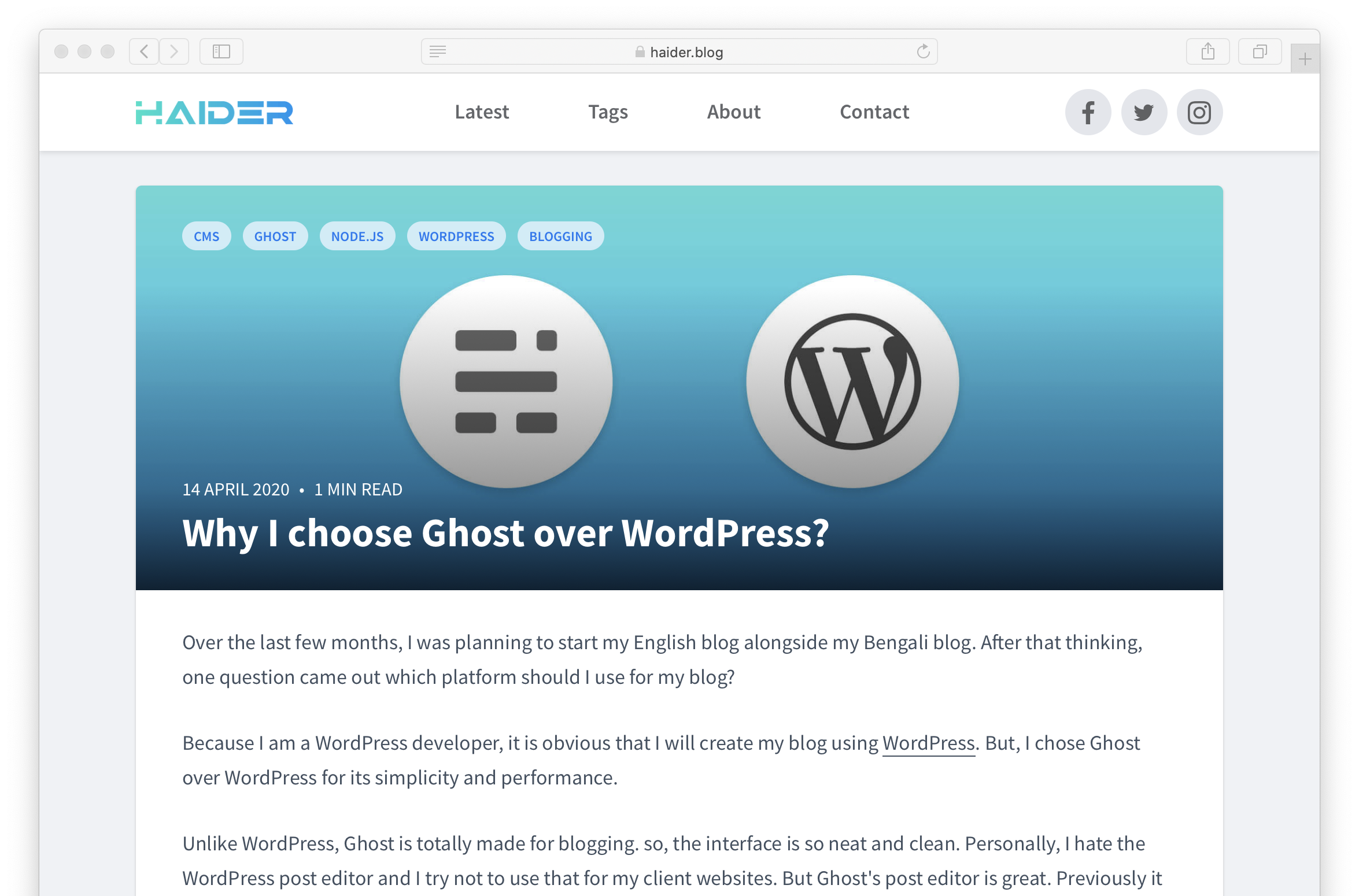 A free ghost theme for story writers